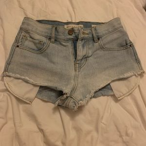 Bullhead Pacsun high rise denim cutoff shorts 24